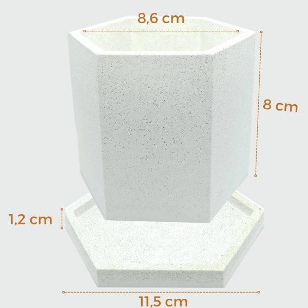 Macetas de cemento blanco hexagonal barata