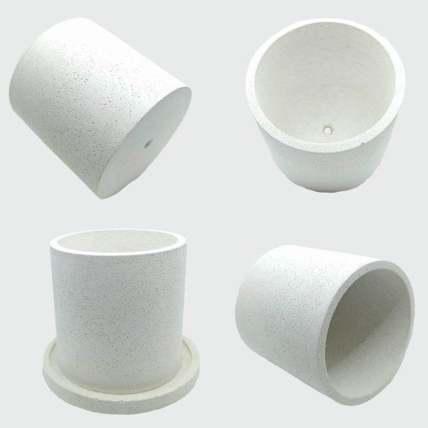 Venta online de macetas de cemento blanco