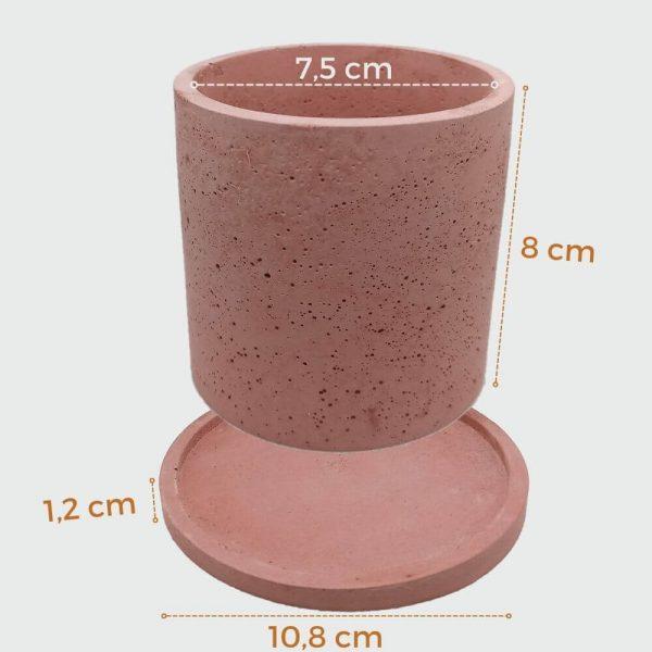 Venta online de macetas cilíndricas de concreto