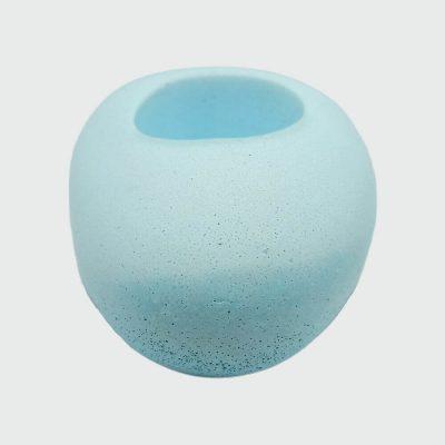 Portavelas de cemento baratos en color azul