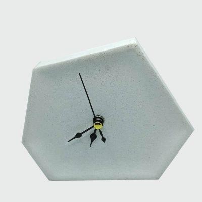 Reloj de cemento blanco decorativo para mesas