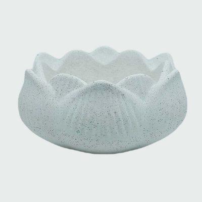 Venta de portavelas de cemento blanco flor de loto