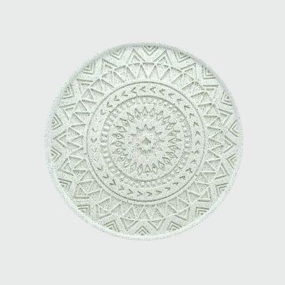 Venta posavasos de cemento blanco figura mandala